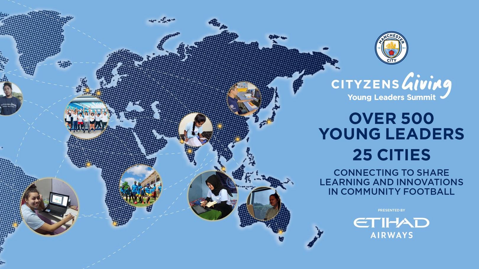 السيتي يجمع عددا قياسيا من القادة الشباب في القمة العالمية للقادة