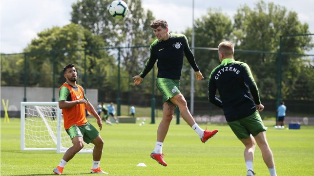 CENTRE OF ATTENTION : John Stones takes to the CFA skies