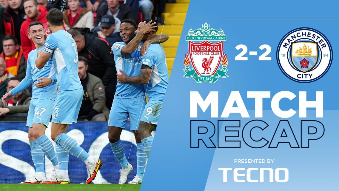 Rekap Pertandingan: Liverpool 2-2 City