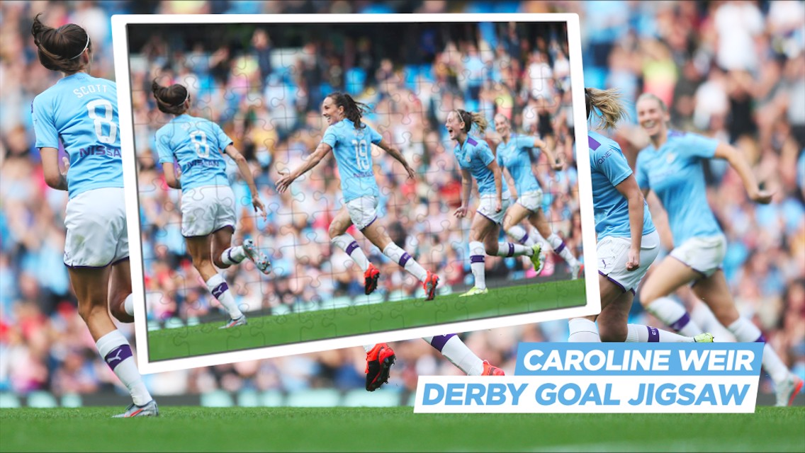 Jigsaw challenge: Caroline Weir's iconic Derby celebration!