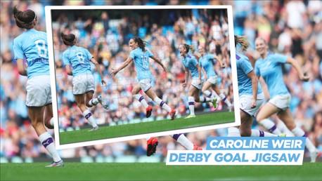 Jigsaw challenge: Caroline Weir's iconic Derby celebration!