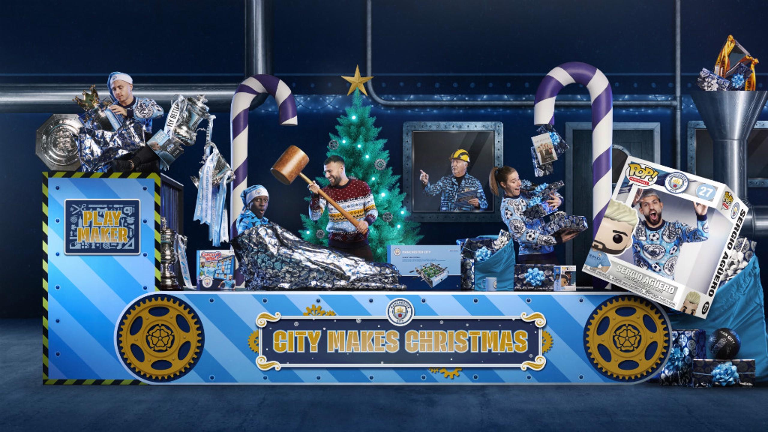 MAKING CHRISTMAS: The City stars hard at work in Santa's workshop.