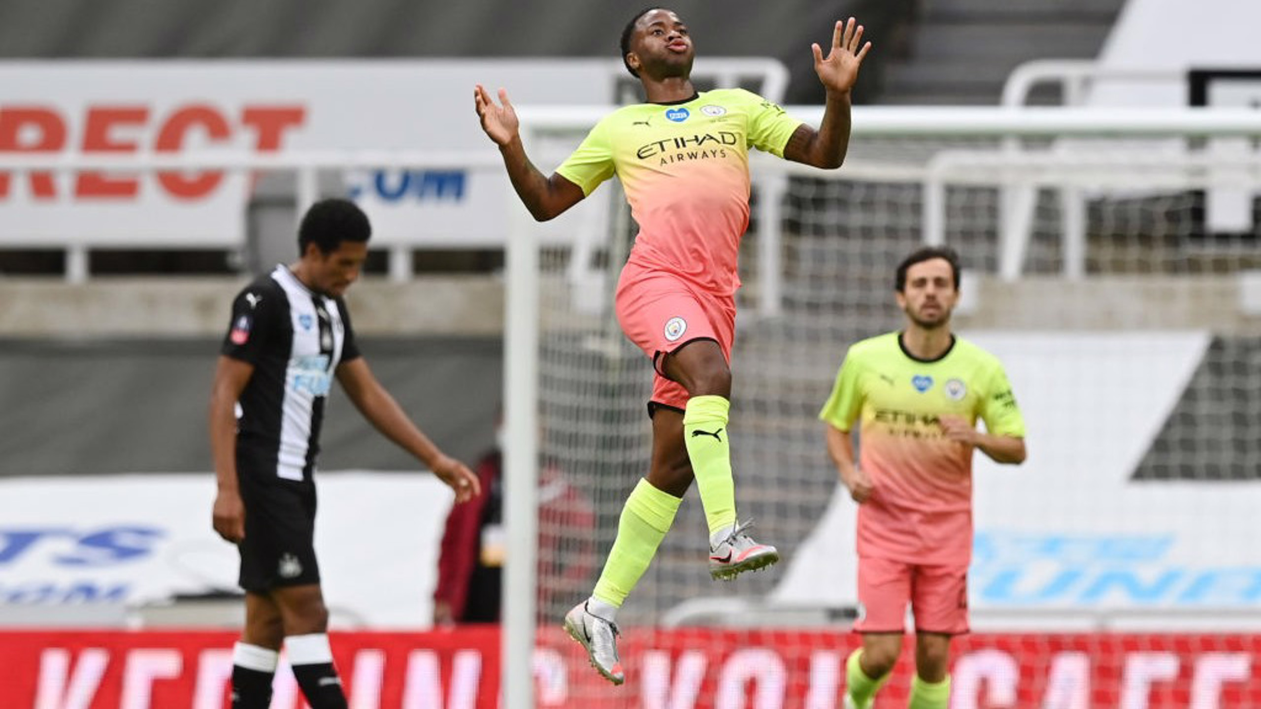 RAHEEM DREAM: Our winger celebrates in style!