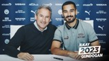 DEAL COMPLETE: Ilkay Gundogan and Txiki Begiristain.