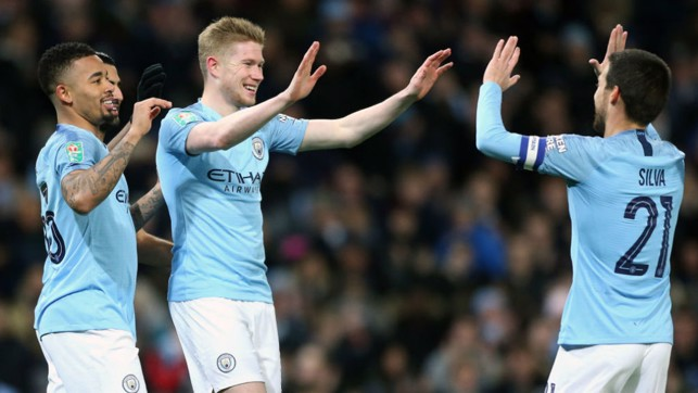 SMILING ASSASSIN : Kevin De Bruyne celebrates after heading the Blues in front