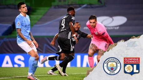City's Champions League hopes ended by Lyon