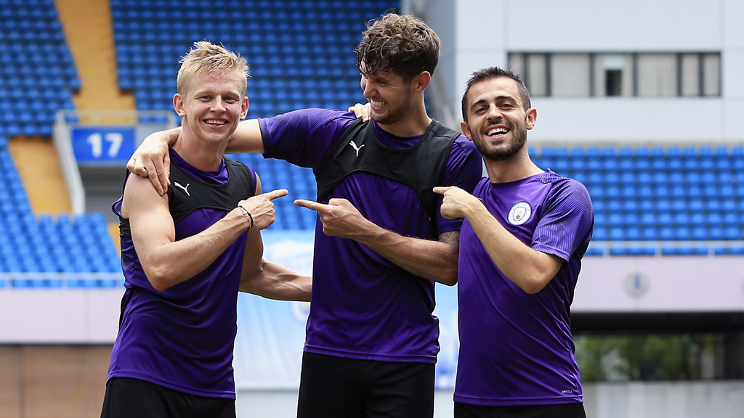 IT WASN'T ME: Happy, smiley Zinchenko, Stones and Bernardo