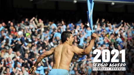 WHAT A MOMENT: Sergio twirls his shirt after scoring THAT goal against QPR in 2012