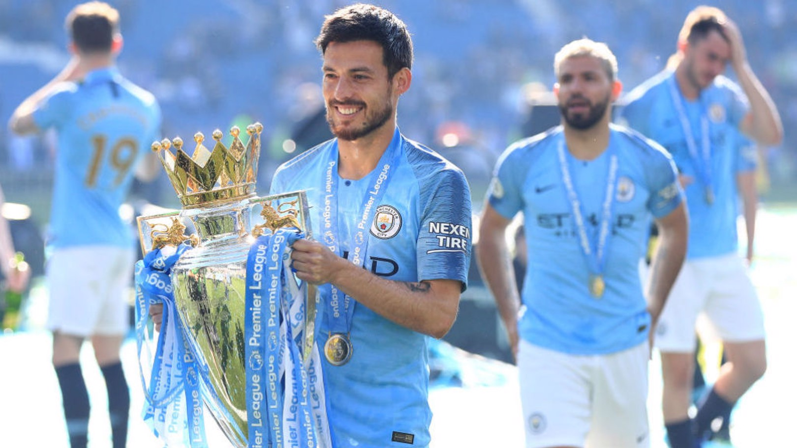 SILVA SERVICE: David has played 400 games in a Manchester City shirt