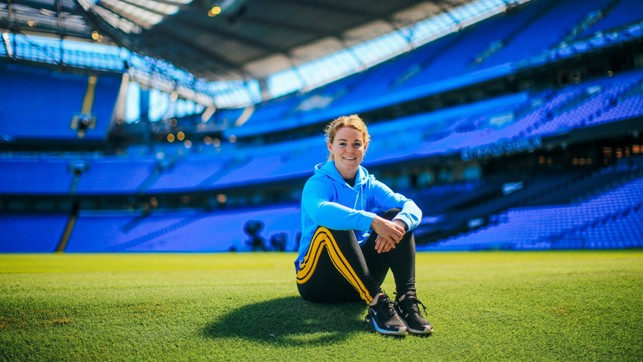 HOME OF THE CHAMPIONS : Will Aoife make her debut in the opening day Manchester Derby at the Etihad?