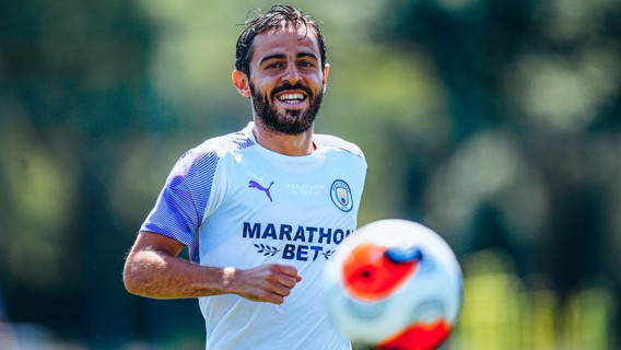 THE HEAT IS ON: Bernardo was right at home in the sweltering conditions