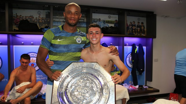EXPERIENCE AND YOUTH : Vincent Kompany and Phil Foden