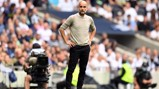 THE BOSS: Guardiola watches on from the touchline.