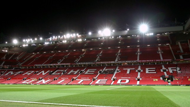 OLD TRAFFORD : You can't beat a Manchester derby under the lights...