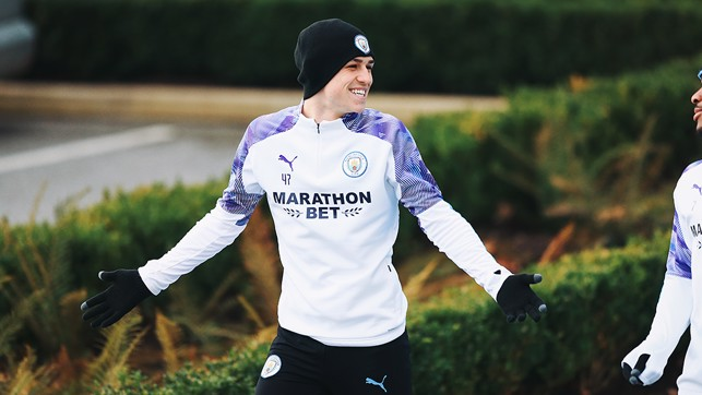 YOUNG GUN : A big smile from Phil Foden.