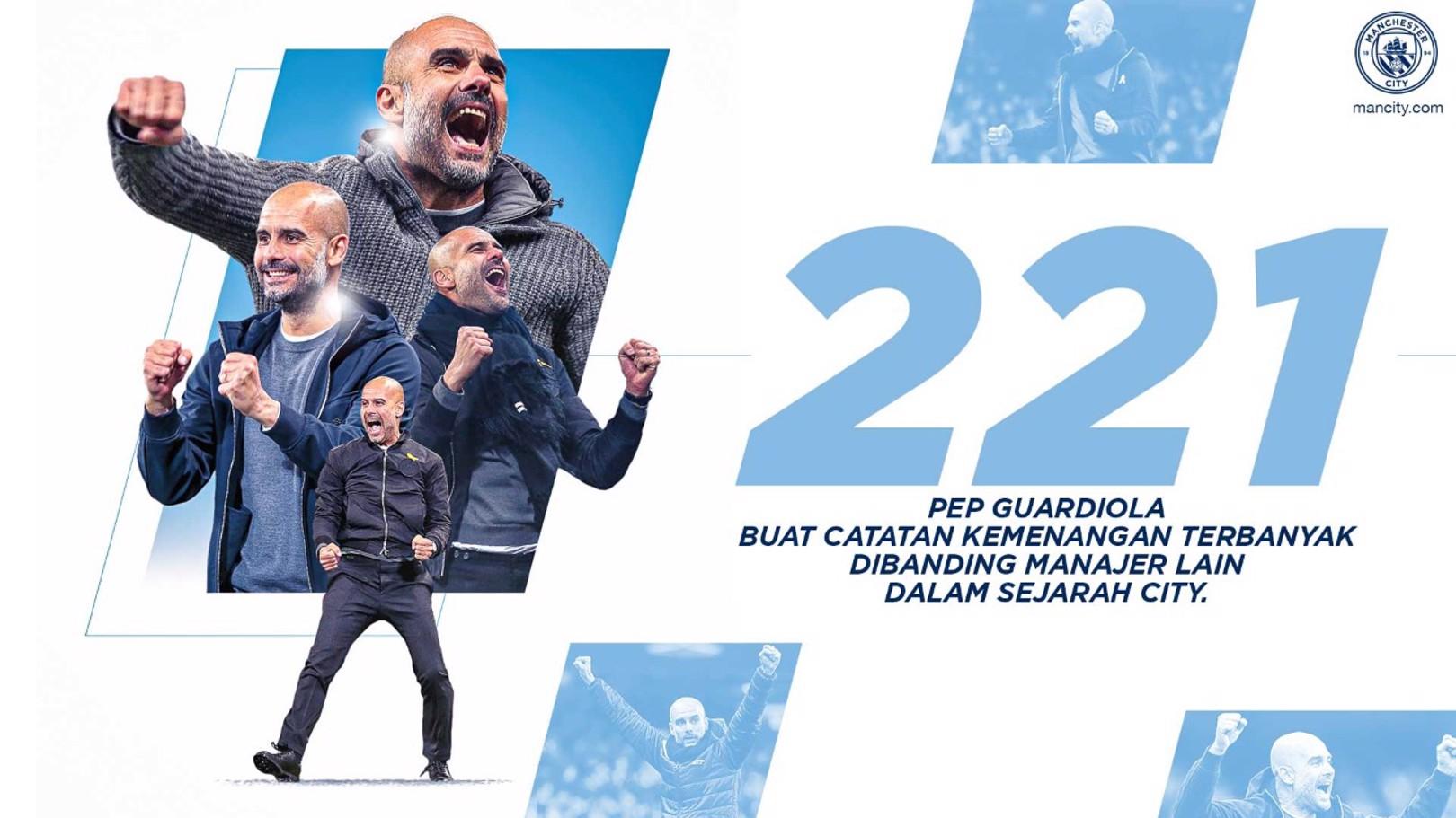 Guardiola Buat Rekor Klub Yang Baru