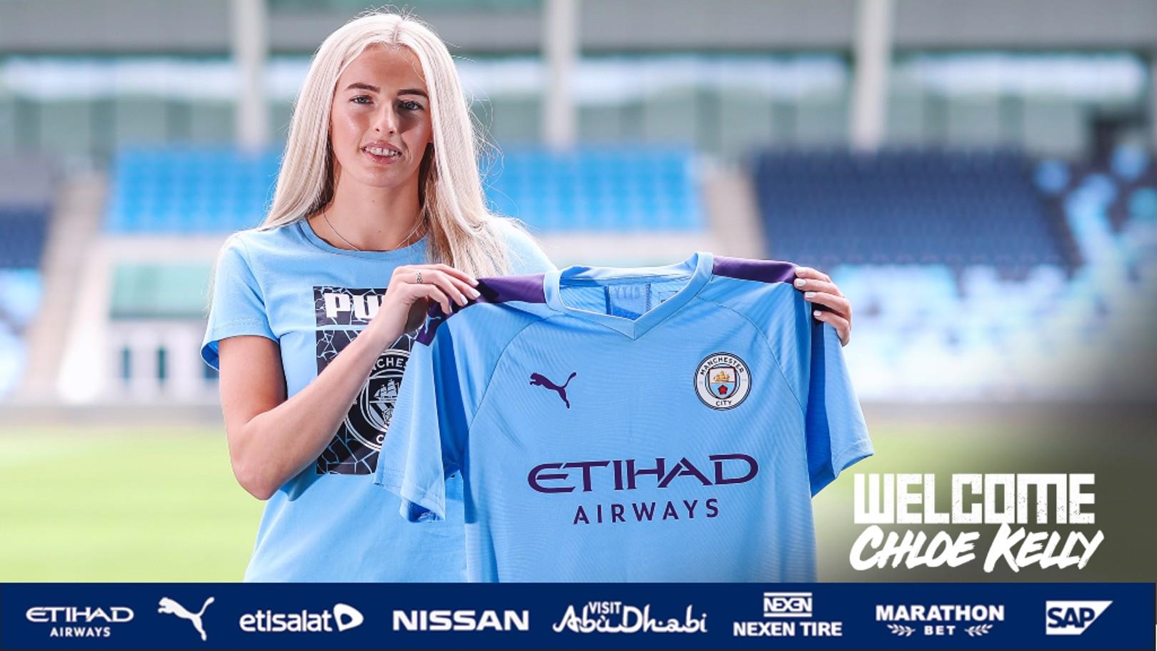 City sign Chloe Kelly
