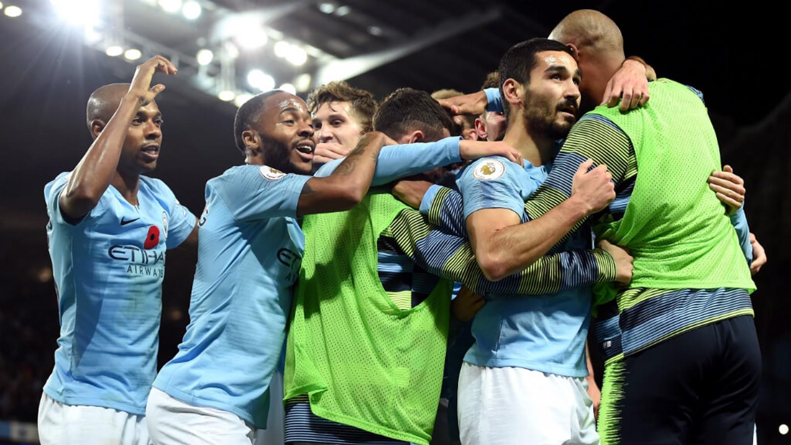 DEMOLITION DERBY: Fernandinho has praised City's performance in the Manchester derby
