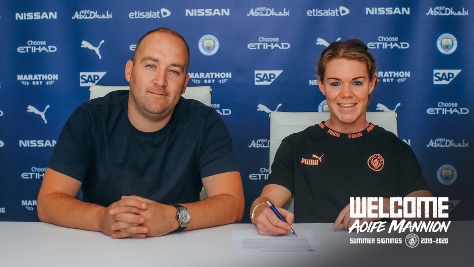 PEN TO PAPER: The defender commits her immediate future to the Club