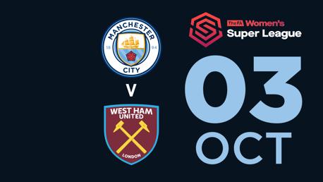 WATCH LIVE: City v West Ham (WSL)
