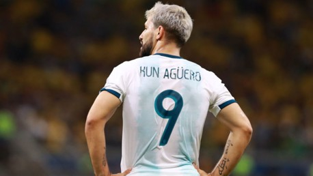 GOAL: Aguero scored for Argentina in a friendly against Uruguay on Monday