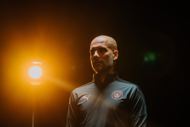 IN THE SPOTLIGHT : Pep models the accompanying training range.
