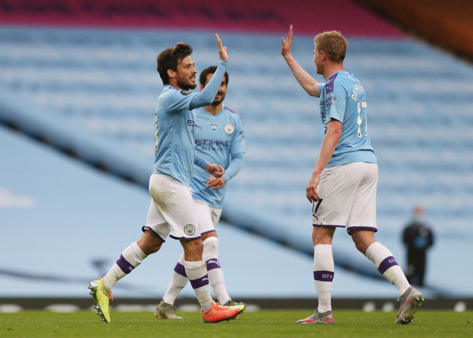 De Bruyne and Silva in PFA Team of the Year