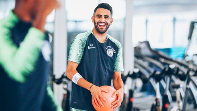 HAVING A BALL : An amused Riyad Mahrez
