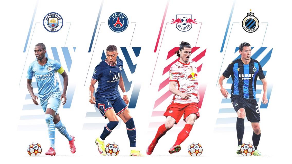 قرعة دوري الأبطال: السيتي مع باريس ولايبزيج وكلوب بروج