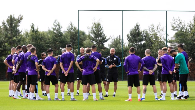 BACK TO WORK : A rousing team talk from the boss