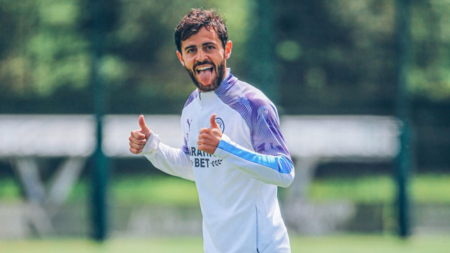 Bernardo only has to smile and the sun comes out....