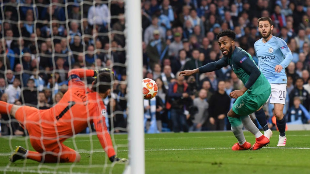 BACK IN THE GAME : Danny Rose can look on as he deflects the ball into the Spurs net
