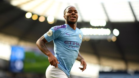 GOAL MACHINE: Raheem Sterling wheels away after netting his fifth goal of the season.