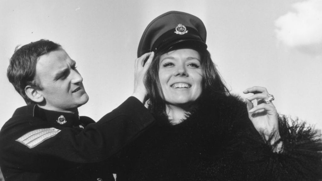 CLASS ACT : John pictured with Diana Rigg in Redcap
