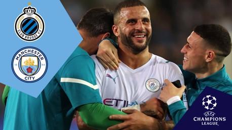 Full-match replay: Club Brugge v City