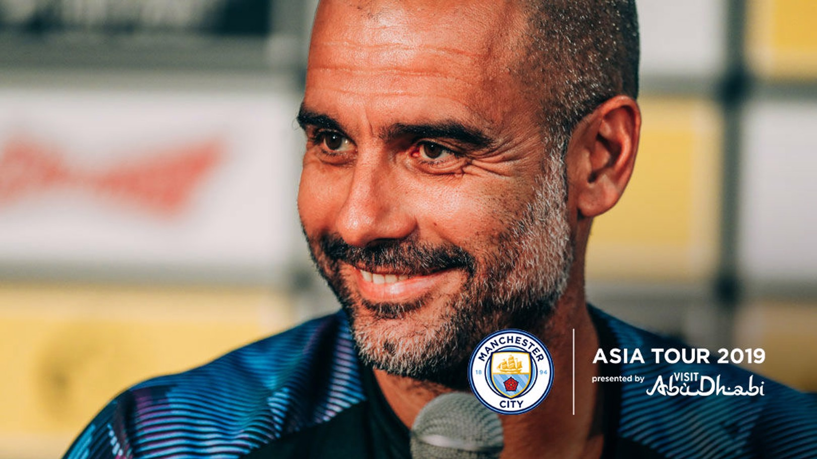 PEP TALK: The boss faced the press ahead of tomorrow's game against Yokohama F. Marinos