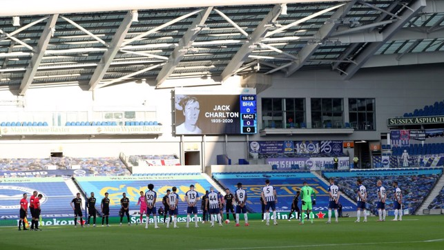 IN LOVING MEMORY: Both teams pay their respects to World Cup winner, Jack Charlton.