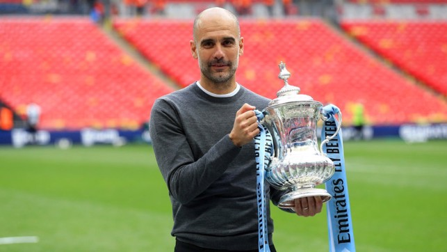 THE GAFFER : Pep with the FA Cup