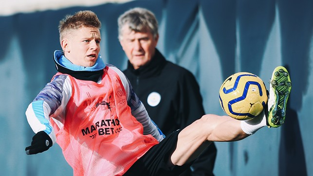 CLOSE CONTROL : Great to see Oleksandr Zinchenko nearing a return from injury!
