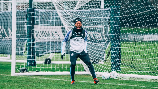 NEW TRICKS: Raheem is back to full fitness... and in high spirits!