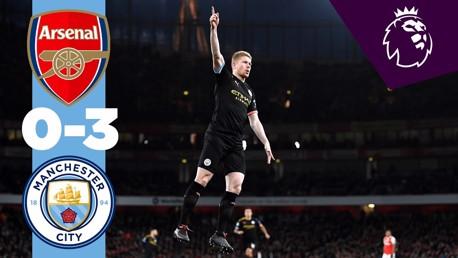 Arsenal 0-3 City: Full match replay