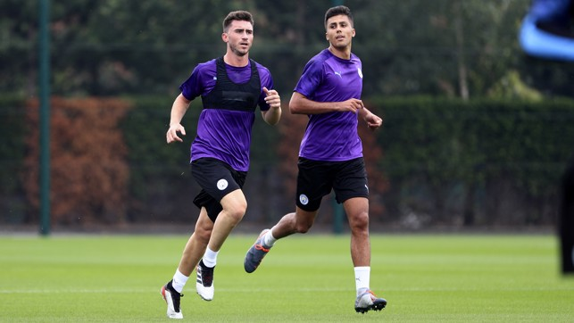 BLUES BROTHERS : Aymeric Laporte and new signing Rodri step up their fitness drills