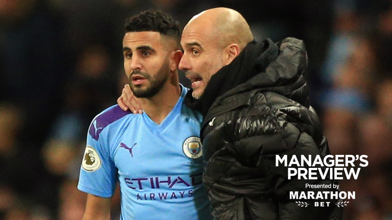 IMPRESSED: Pep Guardiola saluted Riyad Mahrez' form ahead of City's game against Leicester.