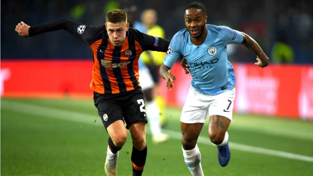 FORWARD MARCH : Raheem Sterling looks to get City motoring once again