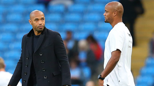 TWO LEGENDS : Thiery Henry takes the role of assistant manager for Premier League All Stars XI