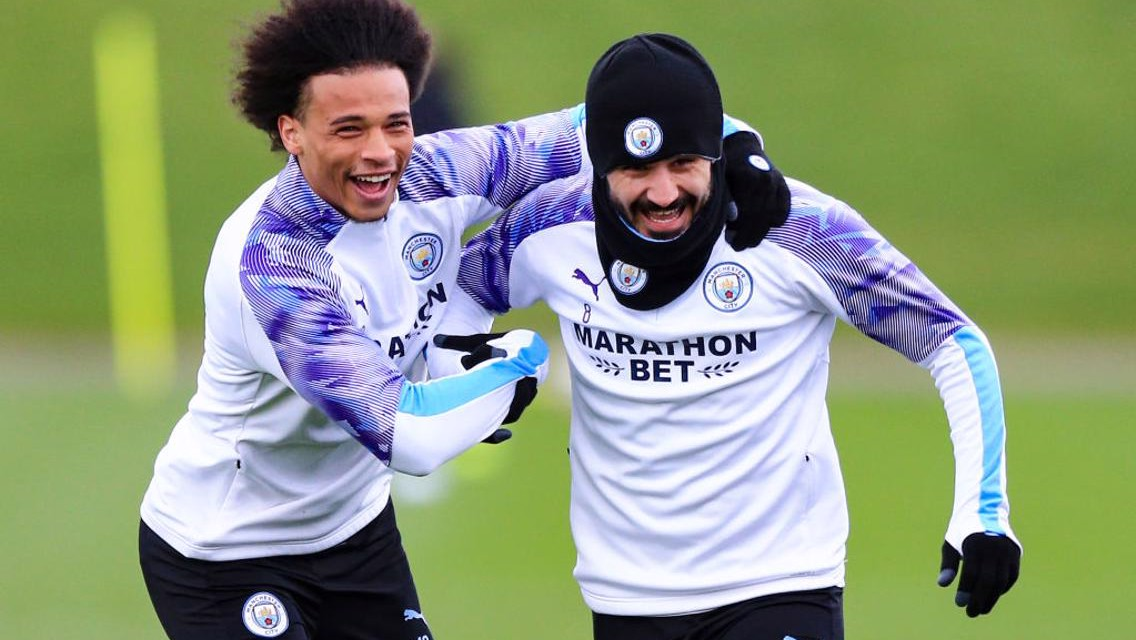 Gundogan and Sane inspiring each other via FaceTime!