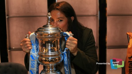THE LOVE OF THE FA CUP: Jen Beattie poses for a snap