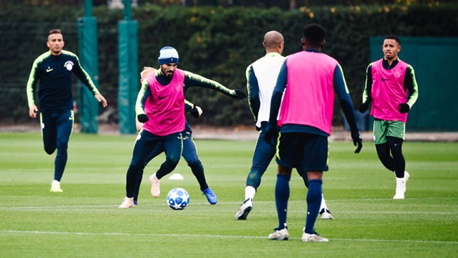 FULL THROTTLE : Ilkay Gundogan was in the thick of the action as he works his way back to full fitness