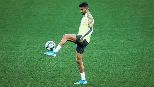 BY THE LEFT : Riyad Mahrez is on the ball