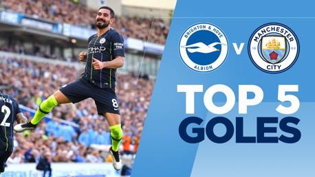 Brighton v City: Los 5 mejores goles